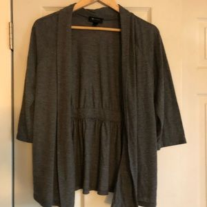 Women's charcoal grey soft blazer top Large